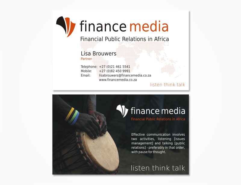 Finance Media business card